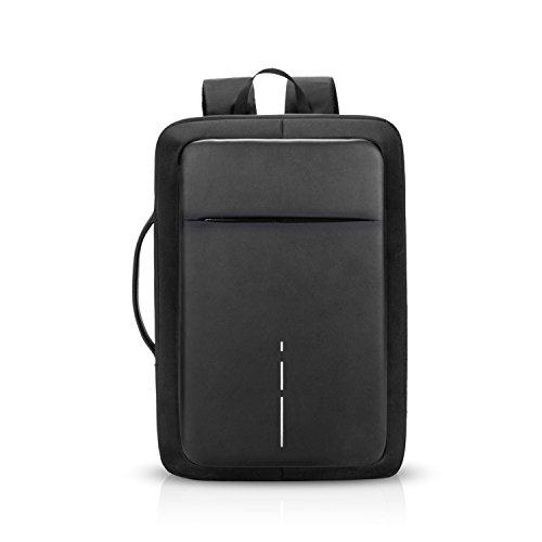 FANDARE 3 en 1 Mochila Hombres Business USB Laptop Bolsa de Mano Commuter Estudiante...