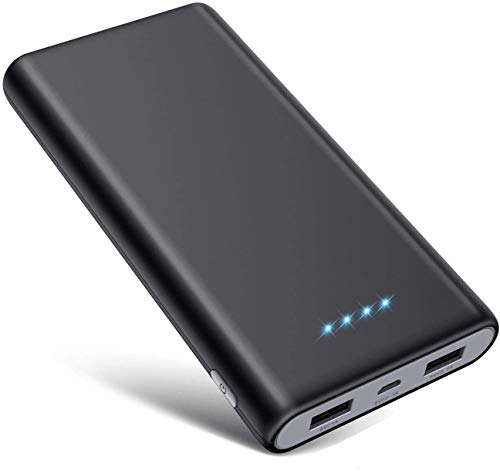 SWEYE Batería Externa 26800mAH Carga Rápida de Power Bank 2 USB Cargar y Luces LED...