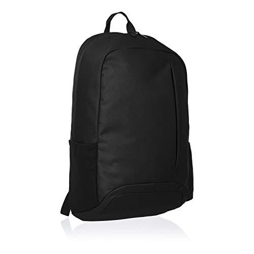 Amazon Basics - Mochila de uso diario para portátiles de hasta 38 cm, negro