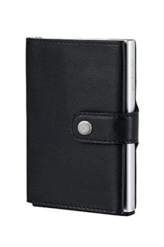 Cartera Samsonite | Piel Premium ALU FITl | Slide-UP Case | Protector RFID Y NFC (Negro)