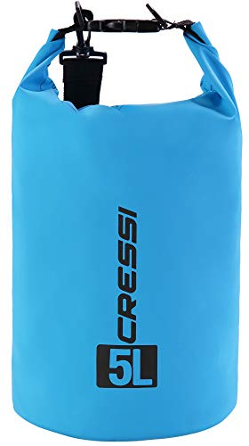 Cressi Dry Bag Mochila Impermeable para Actividades Deportivas, Unisex Adulto, Azul Claro, 10 L