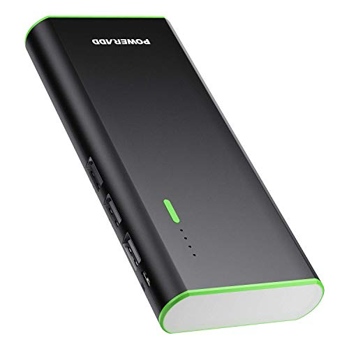 POWERADD Batería Externa 10000mAh (3 USB, 5V 2A, Más 2.5A, con Linterna) Carga Rápida Power Bank para iPhone iPad Samsung Xiaomi Móviles Inteligentes y Tableta