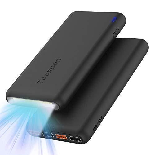 Batería Externa 30000mAh con Linterna 4 Puertos USB Banco de Energía Portátil Cargador...