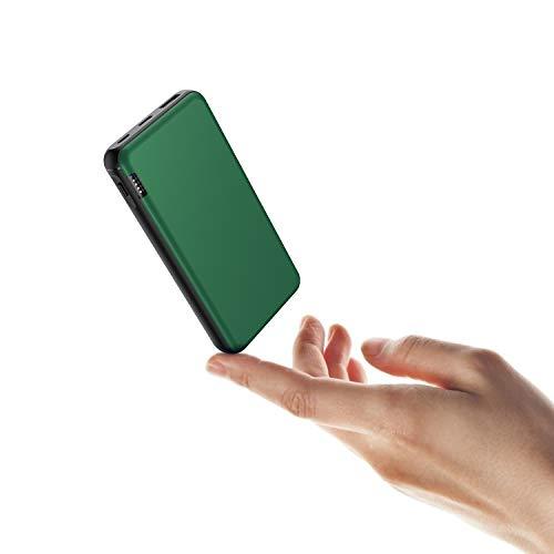 ButcHer Power Bank 20000mAh,Ultra Compacto Carga Rápida Batería Externa con 2 Entradas (Micro+USB C) y 2.4A USB Salidas Cargador Portatil para Smartphones Tableta y Más-Azul