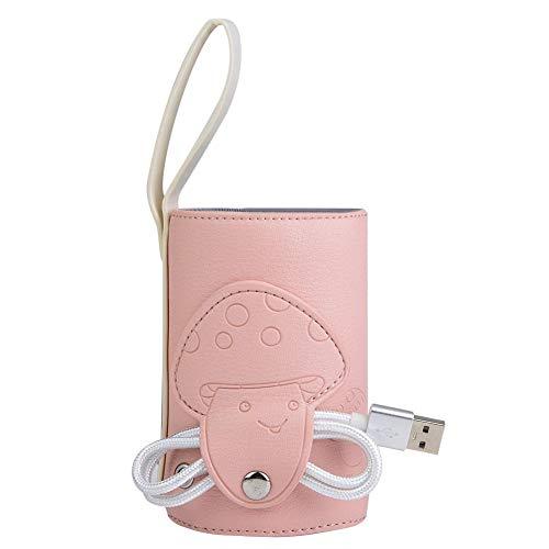 Bolso USB para calentar biberones Bolsa de leche portátil Calentador para calentar biberones Bebé Termostato de aislamiento Leche de alimentación (Pink)