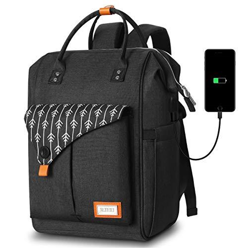 Mochila Mujer con Puerto de USB, Mochila para Portátil 15,6 Pulgadas, Multifuncional...
