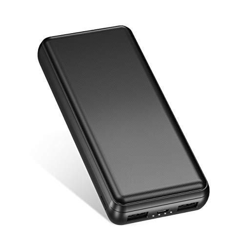 IEsafy Power Bank 26800mAh con 2 USB Salidas Batería Externa Portátil para Movil Xiaomi Redmi Samsung Huawei y más Smartphone - Negro