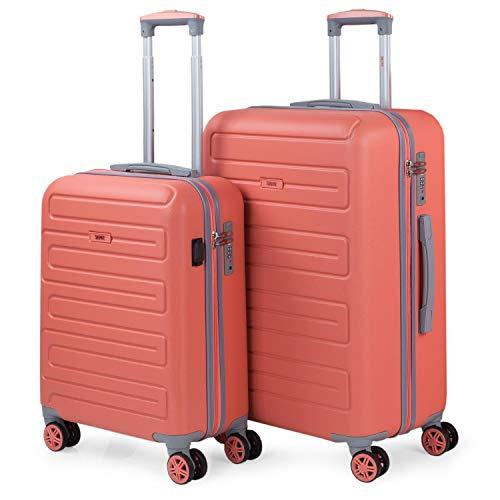 SKPAT - Juegos de Maletas con USB de Viaje 4 Ruedas Trolley abs. rígidas s cómodas y...