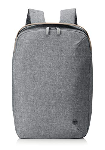 HP Renew - Mochila (15,6 pulgadas, compartimento para portátil + 6 compartimentos interiores, soporte para maleta, de botellas recicladas), color gris