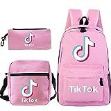 Petainer Combinación de TIK Tok mochila de 3 piezas, Bolsas de hombro y Estuche para...