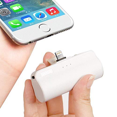 iWALK 3350mAh Móvil Portátil Batería Externa, Ultra-Ligera Power Pack Compacto Power Bank Cargador Compatible para iPhone 12 Mini/12/12 Pro/12 Pro Max/11 Pro/XS Max/XR/X/8/7/6 y así