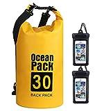 flintronic® Bolsa Impermeable, 30L Mochila Impermeable IP66, para Canoa Kayak...