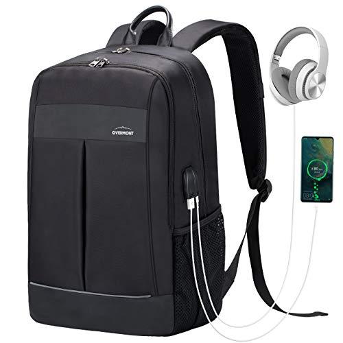 Overmont Mochila Portátil para Laptop hasta 15.6 Pulgadas Bolsa Antirrobo Impermeable...