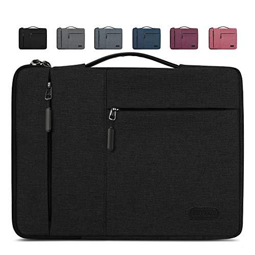 Lubardy Funda Portátil Compatible 13-14 Pulgadas Laptop Impermeable Maletín para Funda Ordenador Portátil Protectora Prueba Golpes Compatible Macbook Air/Pro, HP, DELL, Samsung, etc Negro