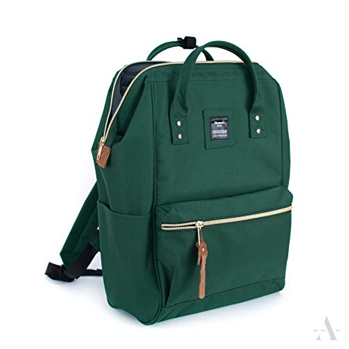 Himawari Mochila de poliéster impermeable para portátil, mochila escolar, apta para notebook de 14 pulgadas A4, 40 x 28 x 20 cm