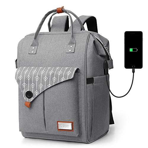 Mochila Mujer Antirrobo Impermeable, Multiusos Daypacks con Puerto de Carga USB, Mochila...