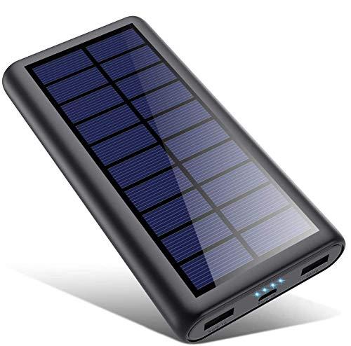SWEYE Cargador Solar 26800mAh,【Cable de Datos/Luz Solar, Carga 2 en 1】 Batería...
