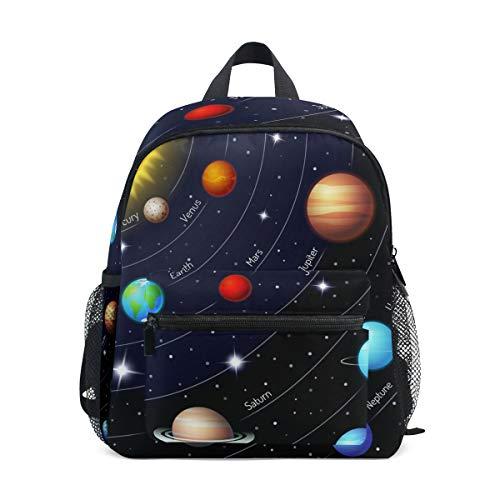 CPYang Mochila para niños con sistema solar de galaxia Universo, mochila escolar para niños y niñas