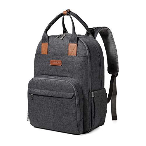 Mochila para cambiar pañales, mochila de moda con mochila para pañales de bebé de gran...