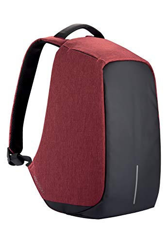 XD Design Bobby Original Mochila Antirrobo Portátil con USB Rojo (Bolsa Unisex)