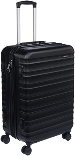 AmazonBasics - Maleta de viaje rígida giratoria - 68 cm, Negro