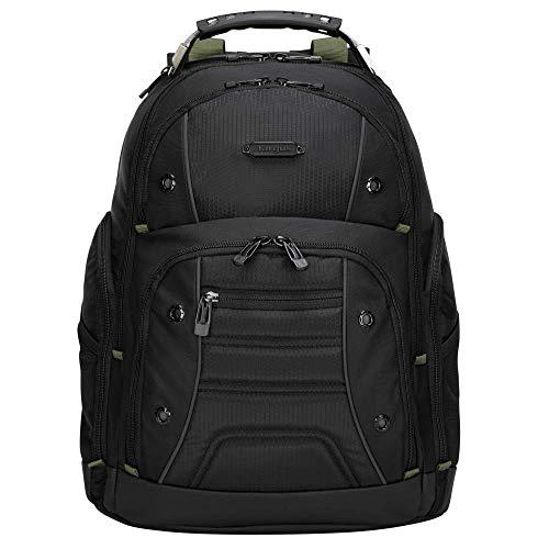 Targus Drifter II mochila con 3 grandes compartimentos, mochila para ordenador de hasta 17 pulgadas, mochila impermeable con correas acolchadas - negro/gris, TBB23901GL