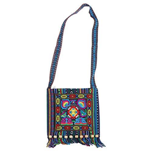 TENDYCOCO vintage étnico tribal bordado borla honda crossbody boho hippie bolso de hombro...