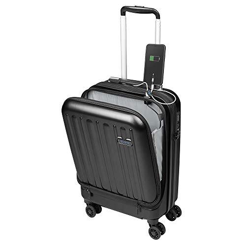 Maletas de Viaje de Cabina 55x40x20 con USB de Carga Equipaje de Mano Trolley rigida 4...