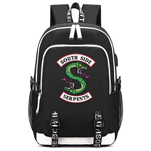 Memoryee Mochila Escolar Riverdale Jughead Jones Southside Serpents Mochila de Ordenador...