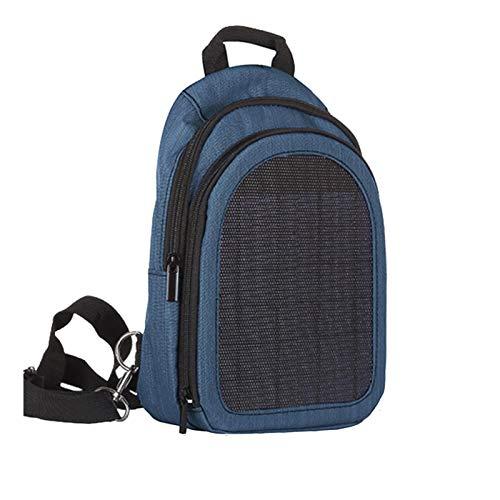 Tidyard Mochila Impermeable con Panel Solar, Conveniente Bolsa para computadora portátil de Carga, Mochila de Gran Capacidad, Viaje de Negocios, Cargador Solar, Mochilas
