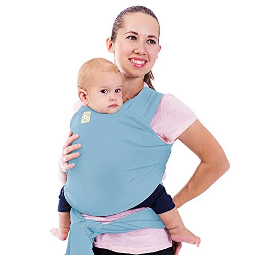Fular portabebés - Fular portabebés elástico todo en 1 - Portabebés lateral - Mochila Portabebés - Fular para bebés - Fular portabebés manos libres - El mejor regalo de Baby Shower (Baby Blue)