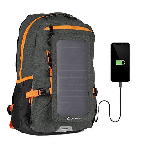 SunnyBAG Mochila Solar Explorer+ | con Panel Solar de 6W para Cargar el teléfono móvil...