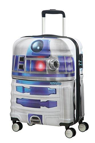 American tourister - Disney Wavebreaker Star Wars R2D2, Maleta Spinner 55/20, 55 cm, 36 L,...