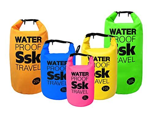 Bolsa/Mochila estanca Waterproof para almacenar Tus Objetos Resistente al Agua Ideal para Trekking, Pesca, navegación, Escalada, Surf, pádel Surf, Varios tamaños y Colores (Gris, 2 litros)