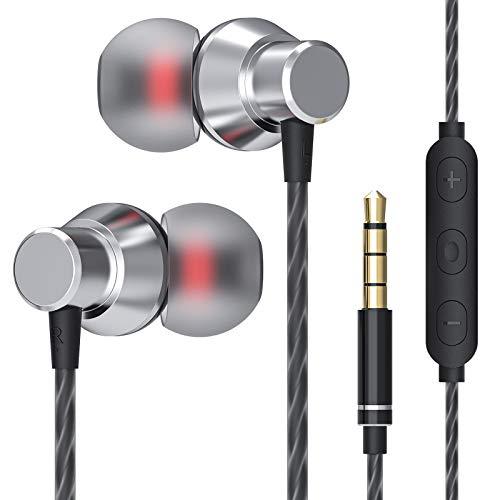 JUKSTG Auriculares In Ear, Cascos con Cable con Micrófono de Alta Sensibilidad, Control...