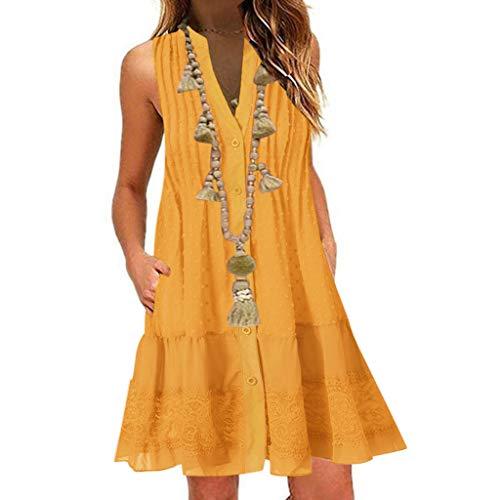 YYMQ Vestidos Largos Casual Talla Grandes Verano Vestidos de Playa Boho Elegantes Vestidos Manga Corta con Cuello en V Fiesta Ropa Hippie Chic Cocktail Sexy Midi Dresses