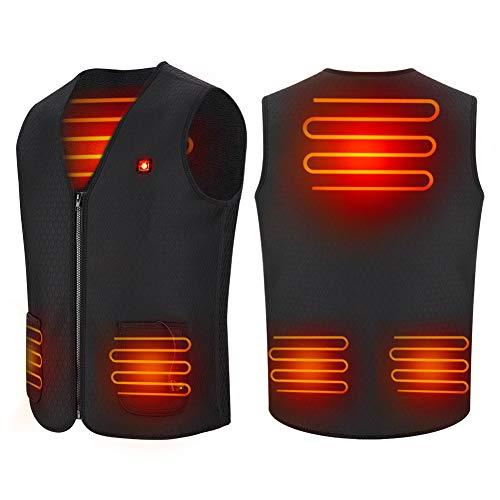 Chaleco de mujer con calefacción USB, Chaqueta térmica de 5 V con calefacción Ropa...
