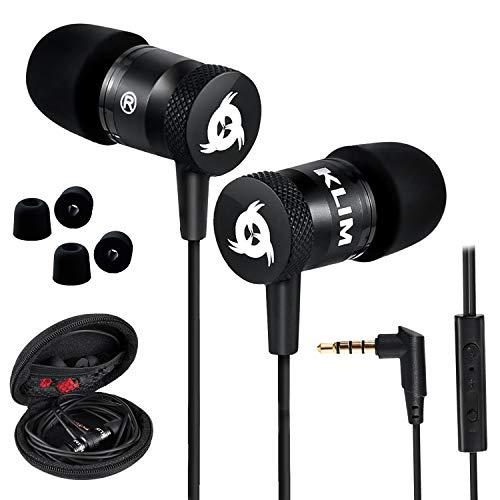 KLIM™ Fusion - Auriculares con micrófono para móvil + Garantía 5 años + Innovadora...