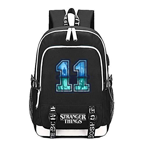 Mochila Escolar de Stranger Things con Puerto de Carga USB Mochila para Estudiantes...