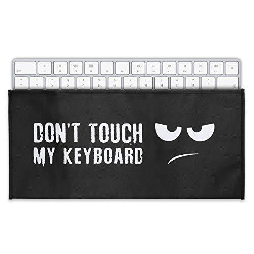 kwmobile Funda Protectora Compatible con Teclado Universal Keyboard - Cubierta para el Polvo Don't Touch my Keyboard