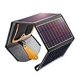 Cargador de Panel Solar, 22W Doble USB portátil Panel Solar Cargador de...
