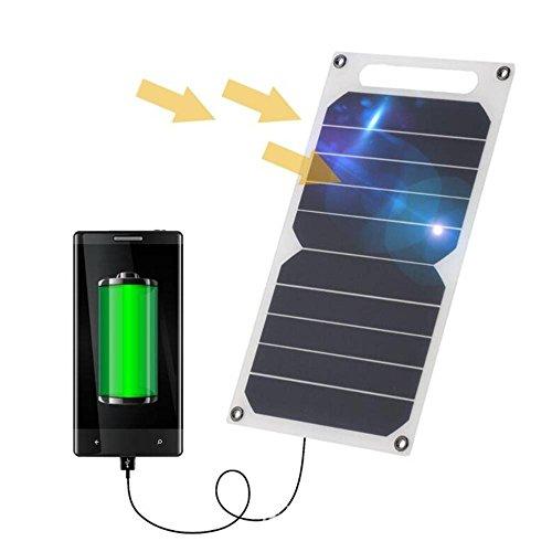 Zuukoo Cargador Solar, 10W 5V Panel Solar Portátil Batería Externa Power Bank con Puerto...