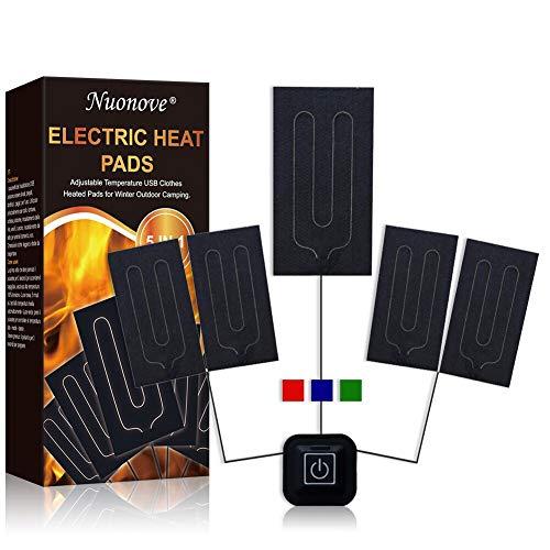 Almohadilla Eléctrica, Almohadilla Termica, Térmico USB Almohadilla, 5 V 2 A Cojín de Calefacción Eléctrica para Ropa Temperatura Ajustable, con 3 Niveles de Temperatura, Lavable a Máquina
