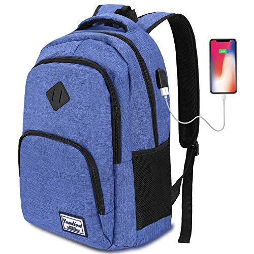 Mochilas Escolares Juveniles,Mochila para portátil con Puerto de Carga USB,para Escolar...
