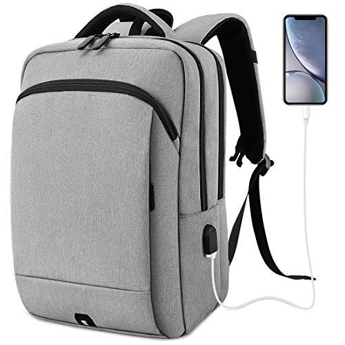 NUBILY Mochila Ordenador Portail Hombre 15.6 Pulgadas con Puerto USB Mochilas Portátil 15...