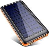 Pxwaxpy Cargador Solar 26800mAh, Power Bank Solar 【Entradas Tipo C & Mirco...