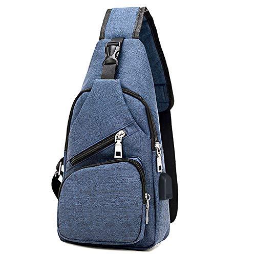 flintronic Sling Bag, Bolsa de Pecho con Puerto de Carga USB, Puerto Crossbody para...