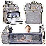 Nuliie mochila cambiador, cuna portátil para bebés y niños, bolsas...