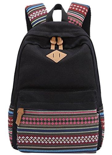 Mochila con diseño étnico para chicas de Panegy, para clase, tiempo libre, deportes de...
