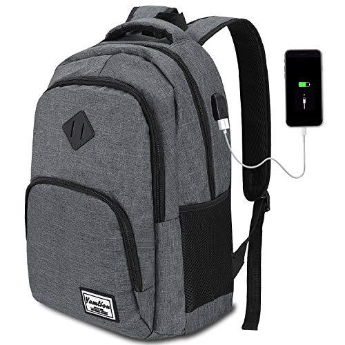 Mochila Hombre para Portátil Mochilas Escolares Juveniles con Puerto USB Resistente al...